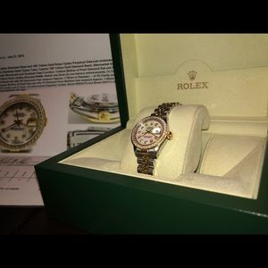 Rolex Oyster Perpetual datejust ladies 18k Gold